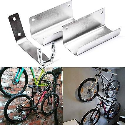 Porte-bagages à crochet mural pour vélo