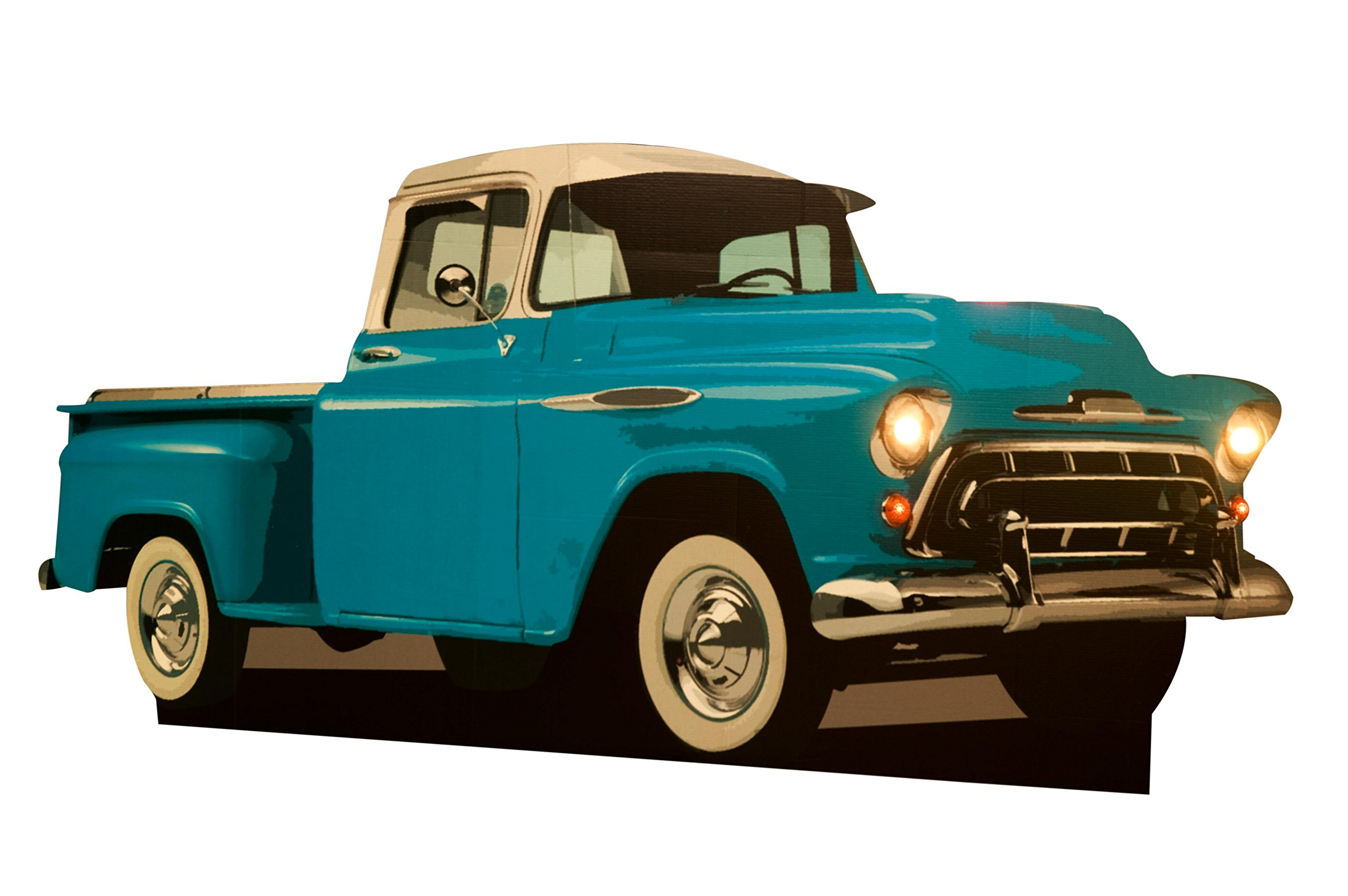 Shake, Rattle, and Roll Pickup Truck Cardboard Cutout - 54'' high, 9' 3'' wide, and 9'' deep