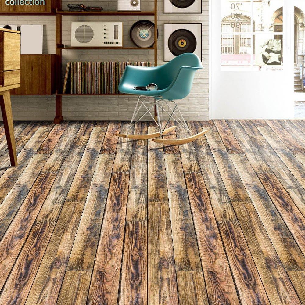 JiaMeng Adhesive Tile Art Floor Vinilos Decorativos Vinilo DIY Cocina Baño Decoración del hogar: Amazon.es: Hogar