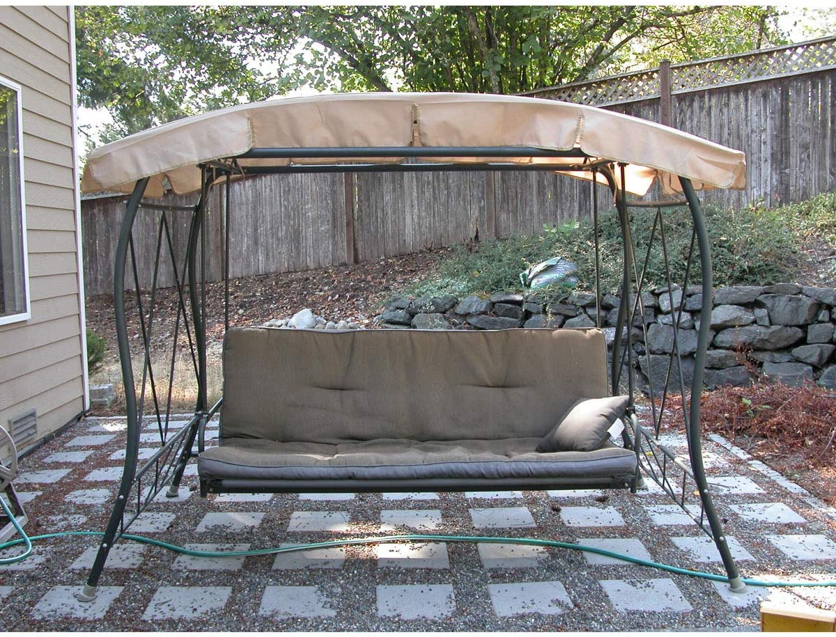 Garden Winds Replacement Canopy Top Cover for The HD Gazebo Swing - Standard 350