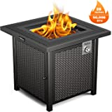 Propane Fire Pit Table, TACKLIFE Outdoor Companion, 28 Inch 50,000 BTU Auto-Ignition Gas Fire Pit Table with Cover, CSA…