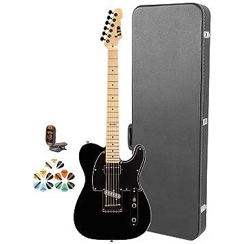 Amazon.com: Esp te te-212 m-blk-kit guitarra eléctrica con ...