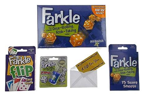 Amazon com: Deluxe Farkle Game Gift Bundle - Farkle Game