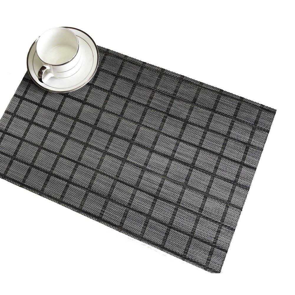 berteri表プレースマットPVCラティスTextileneプレートマット、4pcsグレーディナー装飾熱断熱材ノンスリップテーブルマット   B07FJ6RLFL