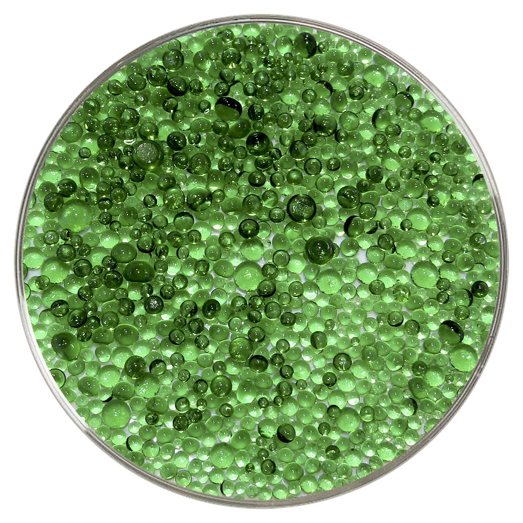 Light Green Transparent Frit Balls - 96COE, New Larger 1oz Size - Made from System 96 Glass New Hampshire Craftworks
