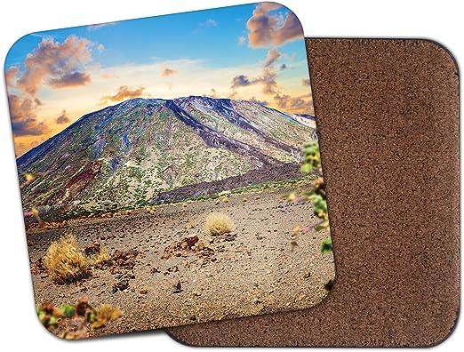 1 posavasos con diseño de Volcán de Teide – Tenerife Islas ...