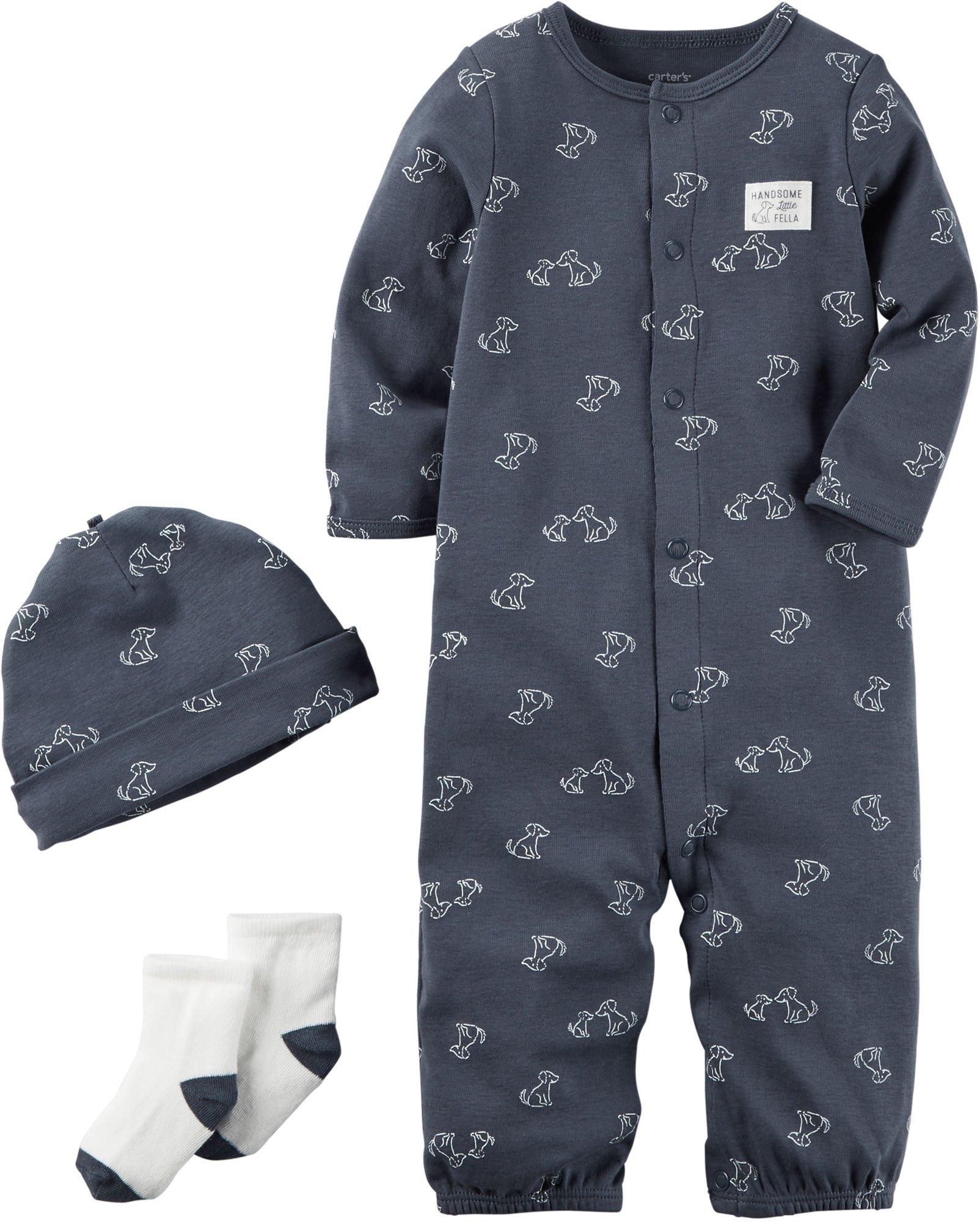 Carter's Baby Boys' 3 Piece Bodysuit Set 6 Months