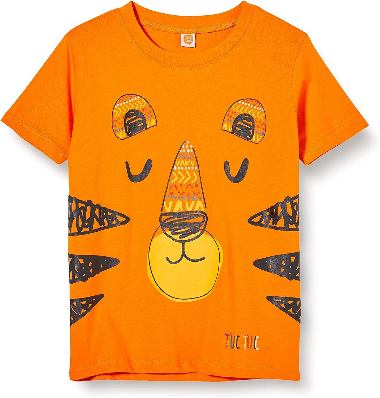 T-Shirt Jersey Tigre Bambino Arancione Wild Side