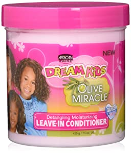 African Pride Dream Kids Leave-In Conditioner, Olive Miracle, 15 oz.