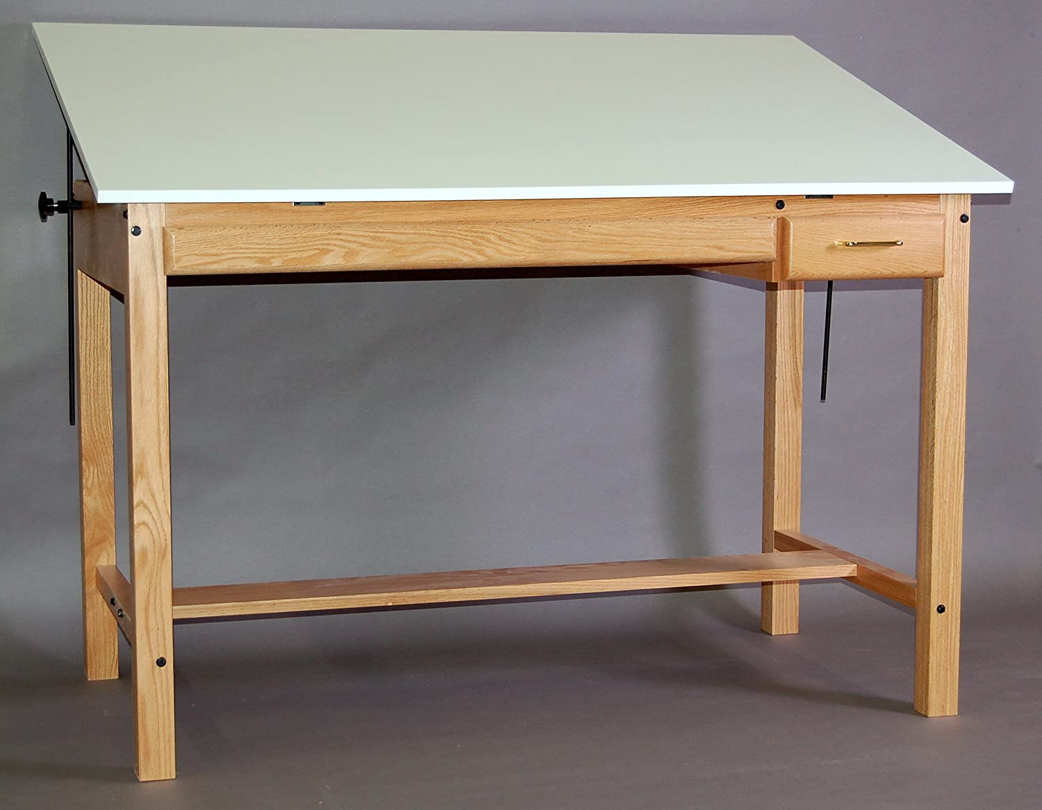 37.5 X 48 Professional Series Table with Tool & Plan Drawer (Natural Oak)