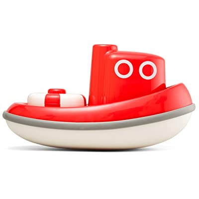 Kid O Floating Tug Boat Toddler Bath Toy - Red