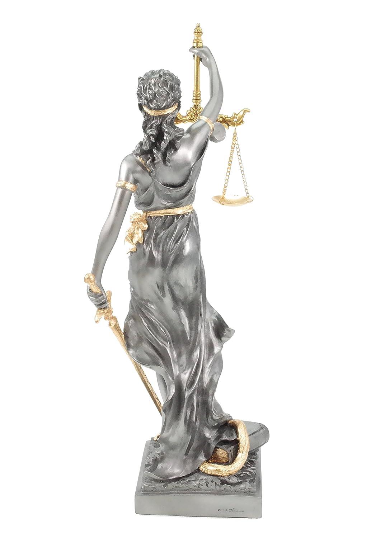 Avvocato Legge Veronese Statua della dea Romana di Giustizia in Oro//Argento