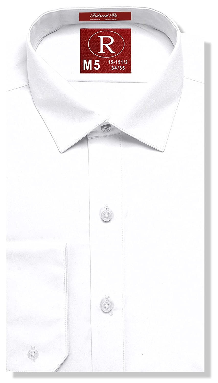 Real Cotton Mens Fitted White Dress Shirt Or Tuxedo Shirt