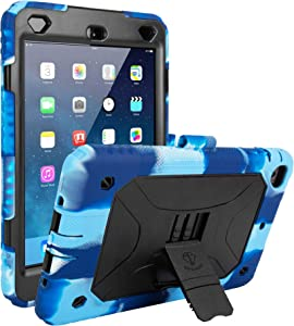 iPad Mini Case iPad Mini 2 Case iPad Mini 3 Case Shockproof Case Protective Durable Cover with Adjustable Kickstand (Navy Blue)