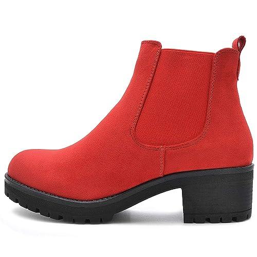 6bb268ce488894 Kayla Shoes© Chelsea Boots Stiefelette in Schwarz oder Beige  Amazon ...