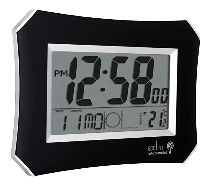 acctim 74423 halo radio controlled wall clock black amazon co uk rh amazon co uk  acctim radio controlled clock 74057 instructions