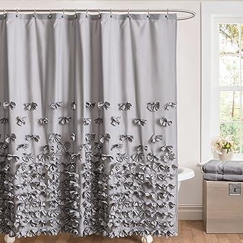 Amazon.com: Lush Decor Lush Décor Juliet Bow Shower Curtain, 72\