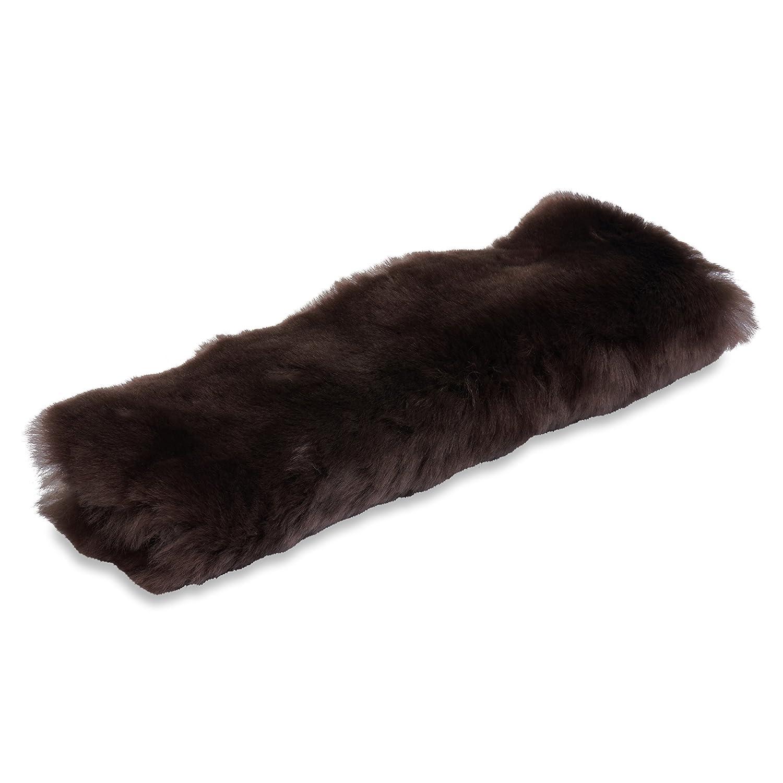 Comfortable Driving Genuine Natural Merino Wool Soft Shoulder Pad Black Andalus Authentic Sheepskin Car Seat Belt Cover 1 Pack