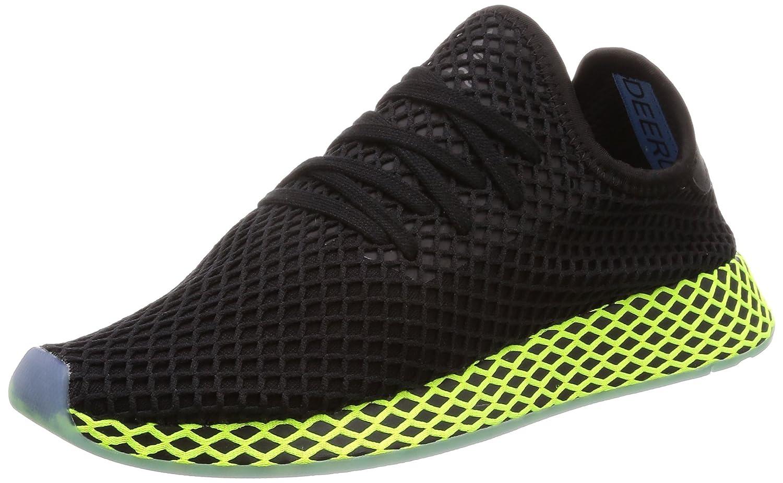 adidas Herren Deerupt Runner Gymnastikschuhe Schwarz (Core Black/Core Black/Ash Blue S18)