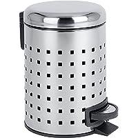 Wenko Cubo de Pedal 3l Perforado Leman, Acero