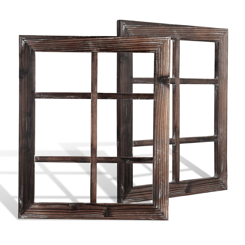 DOCMON Rustic Wall Decor-Farmhouse Decor-Window Barnwood Frames -Home Decor for Home or Living Room, (2, 18.1X22.1X1)