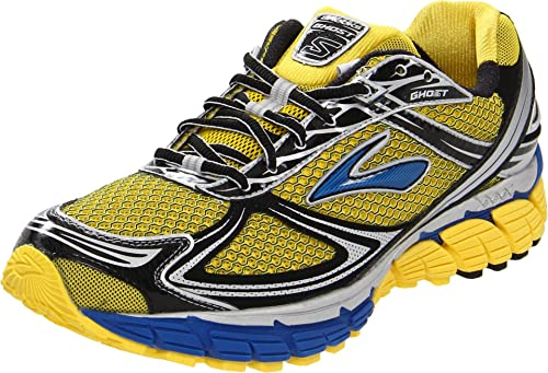 Brooks Ghost - Zapatillas de running para hombre, tamaño 46, 5 EU / 11, 5 UK, color azul/amarillo: Amazon.es: Zapatos y complementos