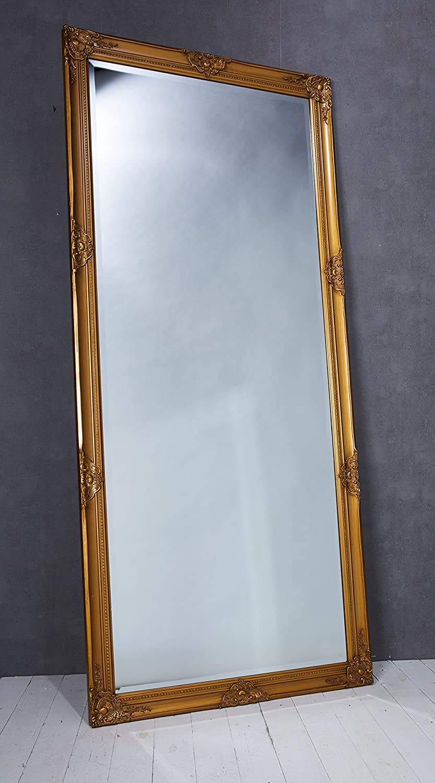 Wholesaler GmbH Wandspiegel Spiegel Gold ca. 180 x 80 cm Antik-Stil ...
