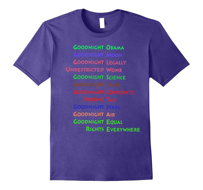 Goodnight Obama Goodnight Moon Funny T-Shirt-CD