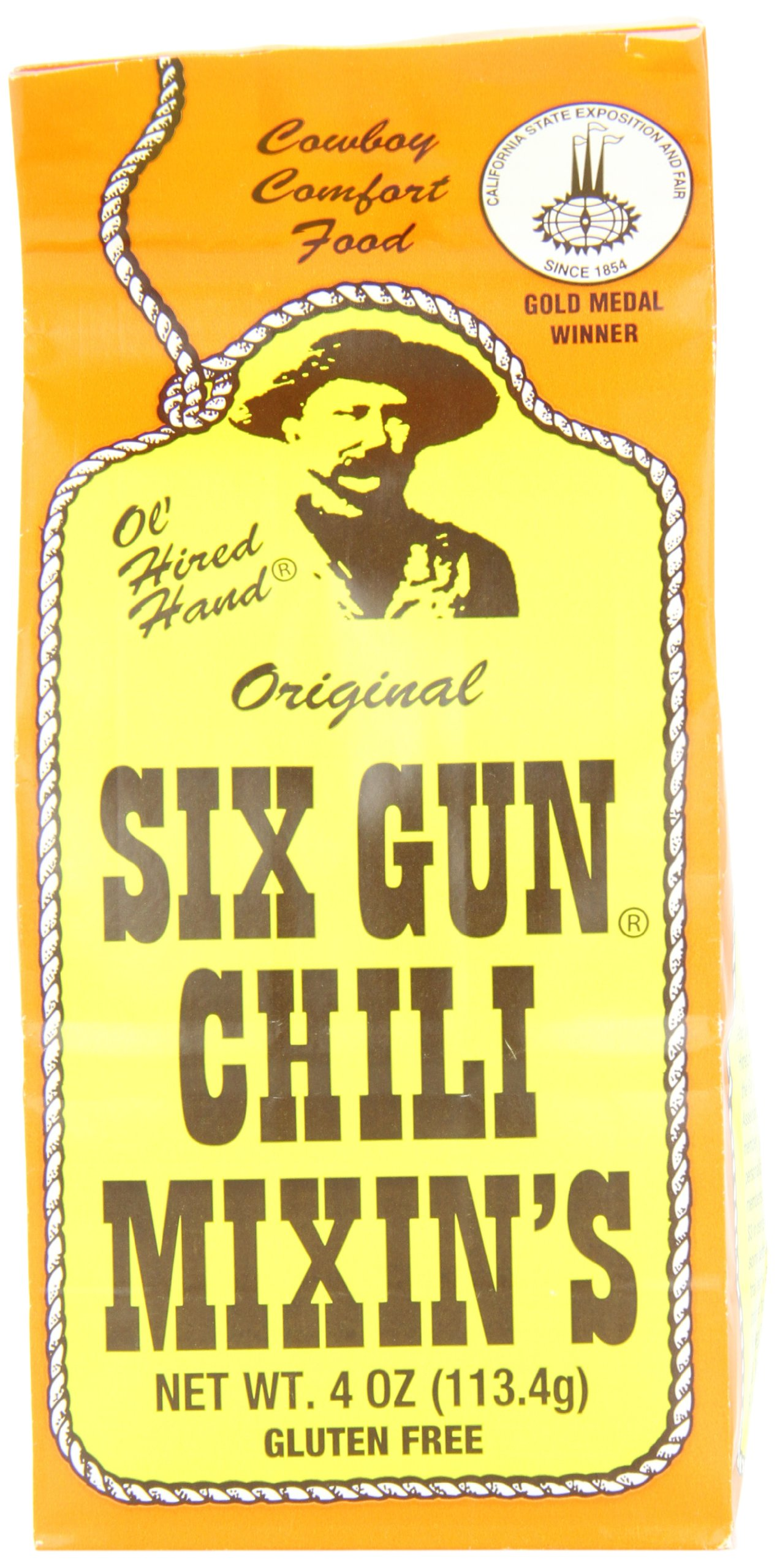 Six Gun Chili Mixins, 4-Ounce