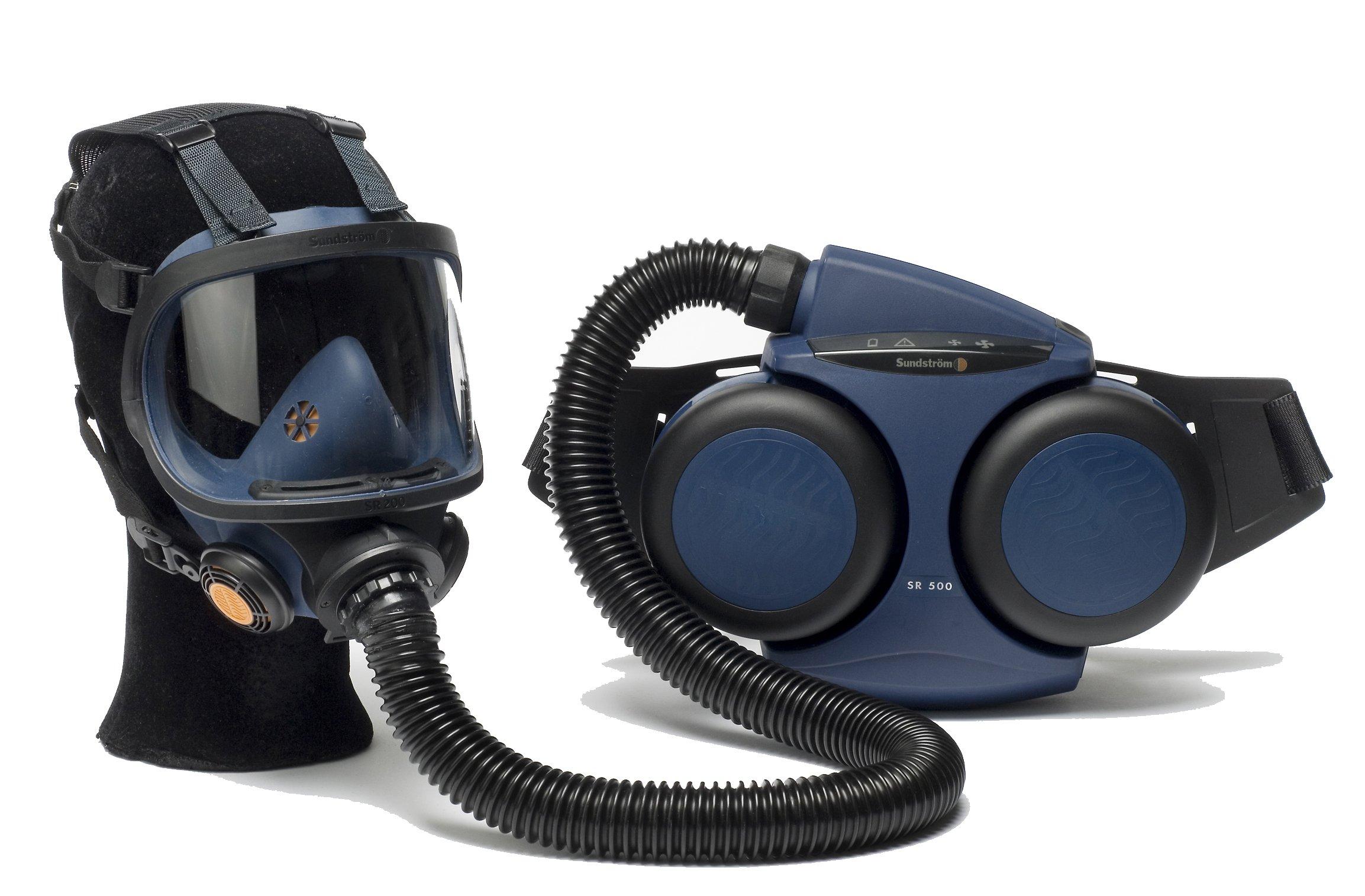 Sundström SR 500/200 PAPR Kit, Includes SR 500 Fan Unit and SR 200 Full Face Mask, One Size, Blue