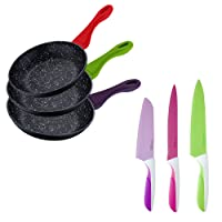 Bergner - Set 3 - Sartenes y/o Cuchillos Color: santoku, Multiusos y Chef