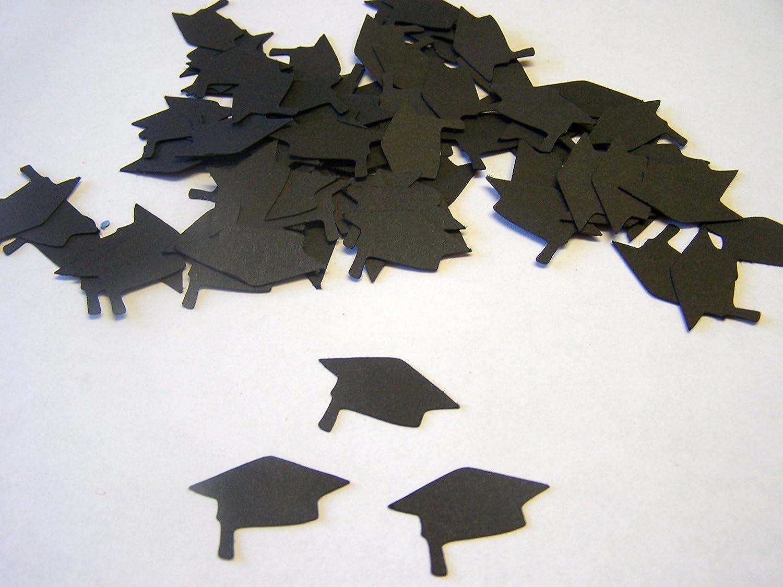 100 Black Graduation Cap Die Cuts, 1 Inch Graduation Cap Cut Out, Graduation Confetti, Graduation Scrapbook, Graduation Party