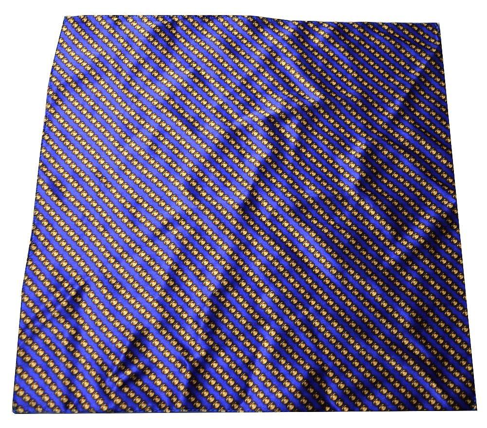 Laslett /& Stocker England Mens Bead Pocket Square Blue//Gold