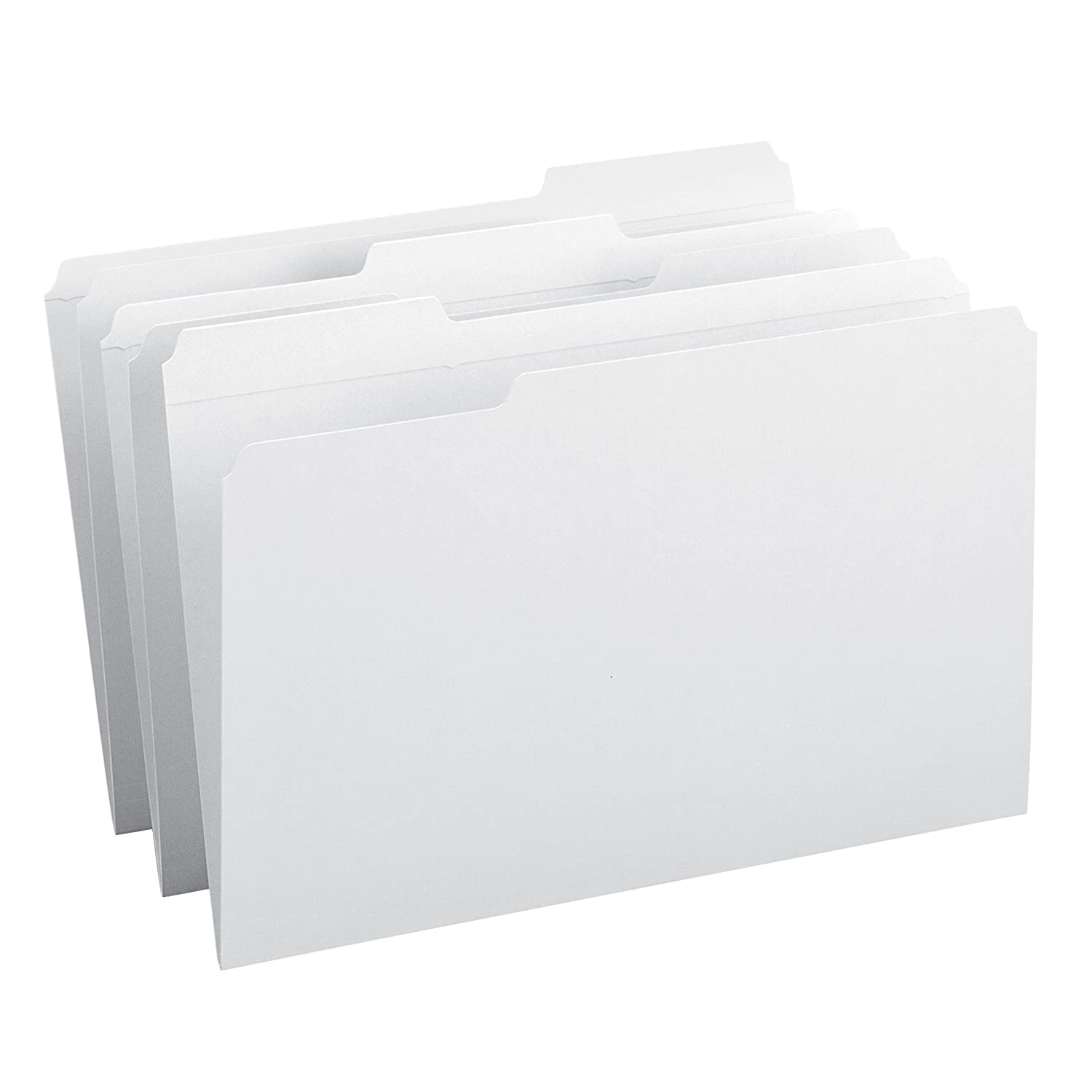 File Folders, 1/3 Cut, Reinforced Top Tab, Legal, White, 100/Box (並行輸入品) B0015ZSQ1E 1/3-Cut Legal Size|ホワイト ホワイト 1/3-Cut Legal Size