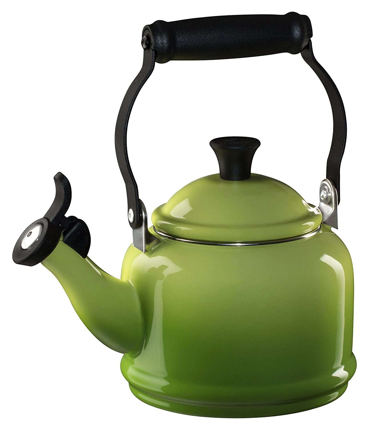 Le Creuset Enamel-on-Steel Demi 1-1/4-Quart Teakettle, Palm