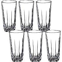 KADAX - Juego de 6 Vasos de Cristal