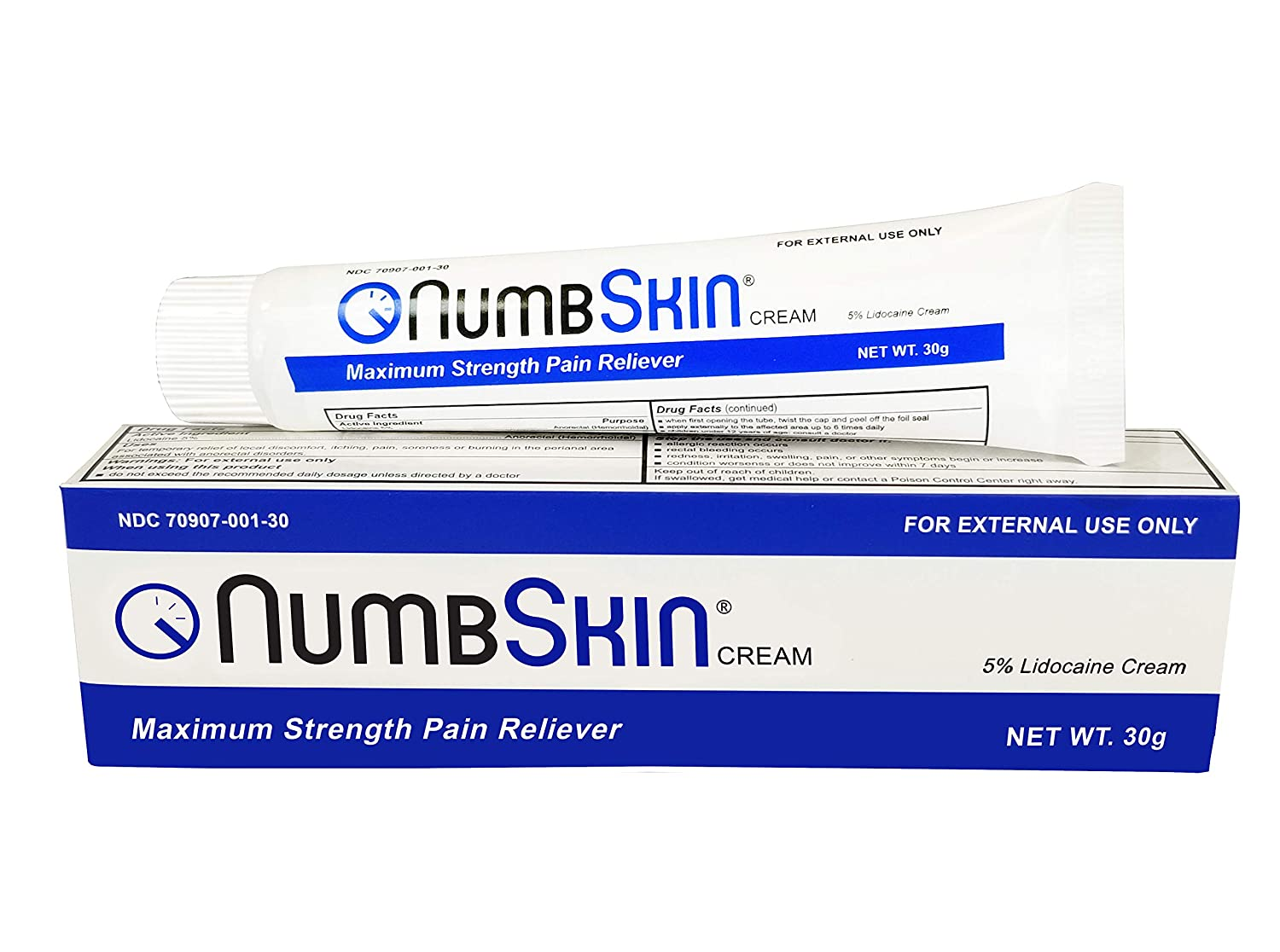 New Numbskin Numbing Cream 5% Lidocaine Topical Anesthetic– Fast Acting Tattoo Numbing Cream for Deep Pain Relief & Numbing Cream for Microneedling/Piercing/Microblading/Laser Hair Removal (1 tube)