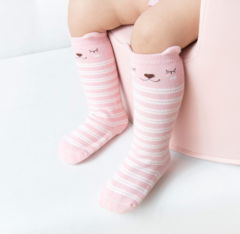 Unisex Baby Stocking Baby Anti Slip Socks for 0-36 Month 5 Pairs BOTINDO Baby Knee High Socks