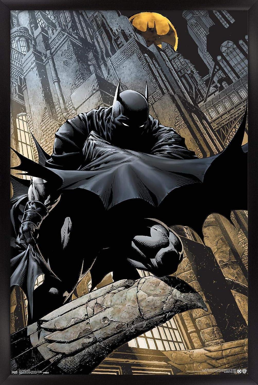 "Trends International DC Comics - Batman - Lurking Wall Poster, 22.375"" x 34"", Black Framed Version"
