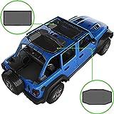 Alien Sunshade Jeep Wrangler JLU (2018-2021) – Front & Rear Mesh Sun Shade for Jeep JL Unlimited - Blocks UV, Wind, Noise - B
