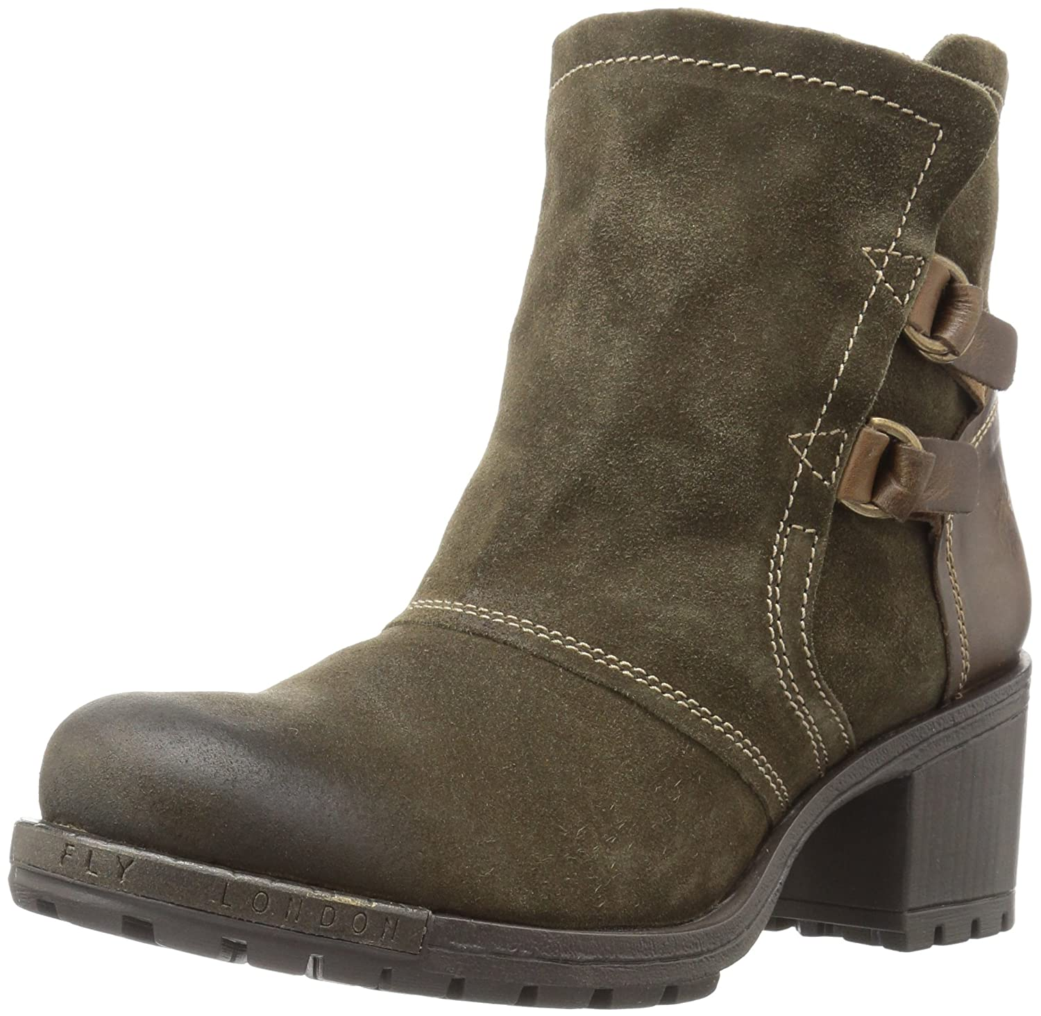 FLY London Women's Lory048fly Fashion Boot B06X9FP2ZG 37 M EU (6.5-7 US)|Sludge/Olive Oil Suede/Rug