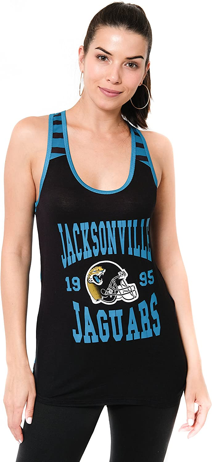 Ultra Game NFL Womens Super-Soft Mesh Jersey Racerback Tank Top