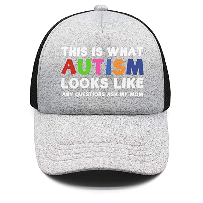 Kids Boy s Girl s This is What Autism Looks Like Baseball hat Crazy Visor  caps 4d376a7e3b5e