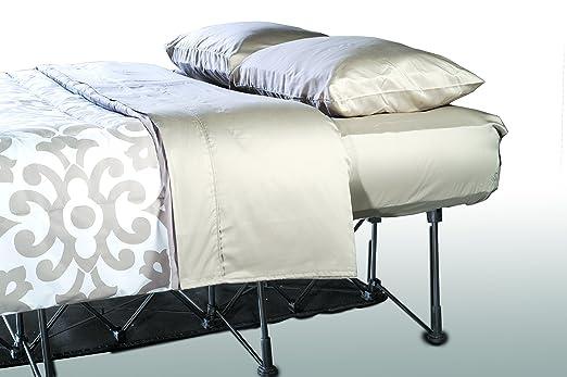 Ivation EZ-Bed (Queen) - Colchón hinchable con marco y funda enrollable, se apaga automáticamente a la comodidad deseada, cómoda superficie de dormir: ...