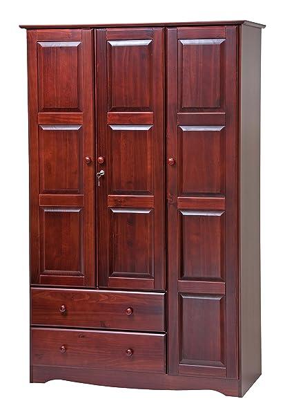 Remarkable 100 Solid Wood Grand Wardrobe Armoire Closet By Palace Imports Mahogany 46 W X 72 H X 21 D Interior Design Ideas Truasarkarijobsexamcom