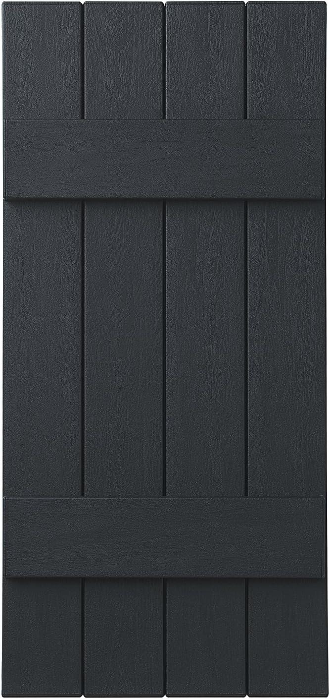 Coastal Blue Ply Gem Shutters and Accents VIN4C1543 BLU 4 Board Closed Board /& Batten Shutter