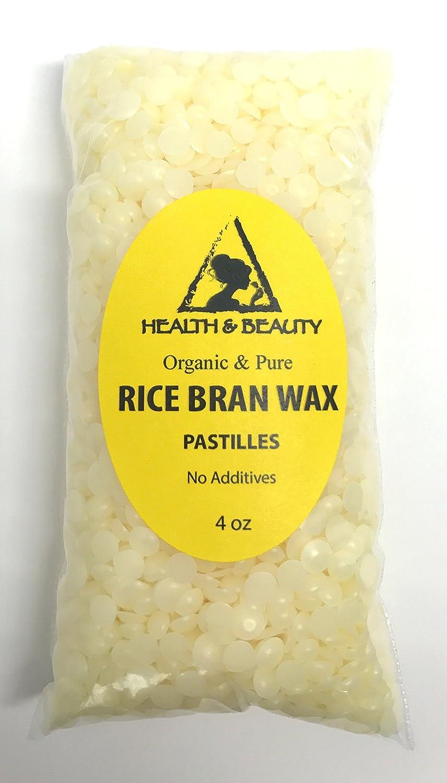 Rice Bran Wax Organic Vegan Beads Vegetable Pastilles Flakes Premium Prime Grade A 100% Pure 4 oz, 113 g H&B OILS CENTER Co.