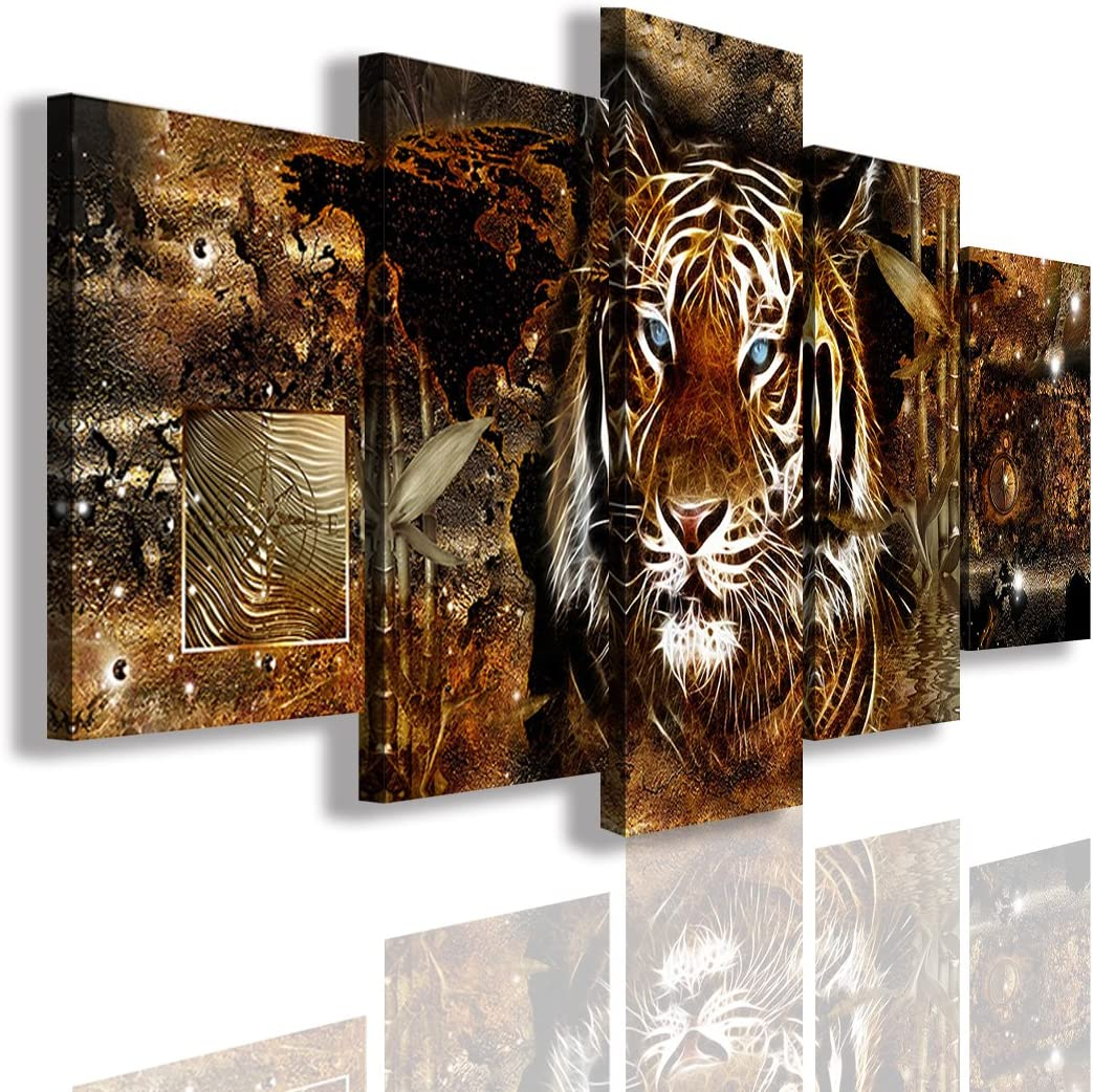 Poster White Tiger Room Art Wall Cloth Print 205