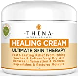 Best Organic Natural Moisturizer Lotion For Body Face Anti Itch Dry Itchy Scalp Atopic Dermatitis Rosacea Rashes Relief Irritated Cracked Skin, Eczema Psoriasis Treatment Therapy Cream Travel Size