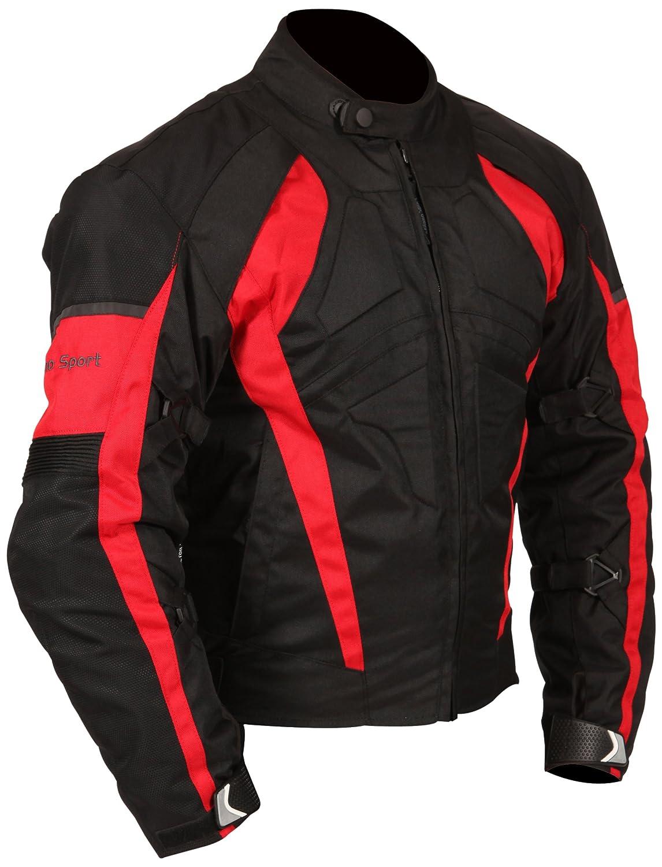 Black//Green, X-Large Milano Sport Gamma Mens Motorcycle Jacket